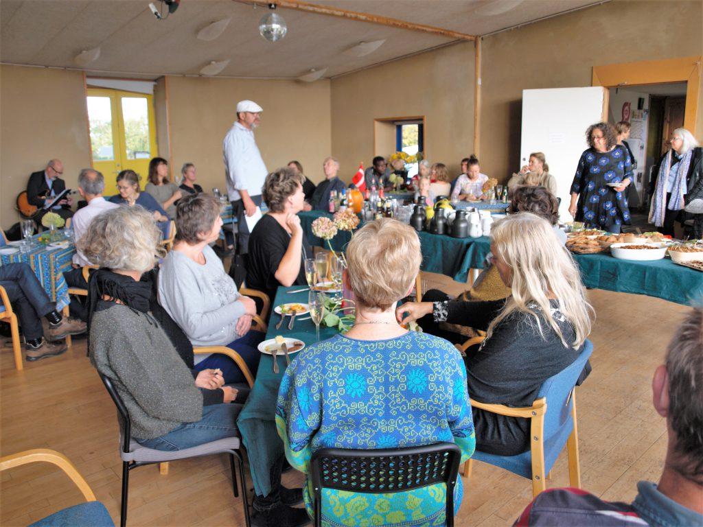 Erling Deigaard fortæller om Vimbys tilblivelse ved reception i an